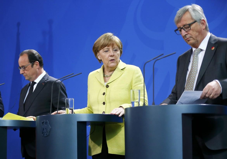 Hollande, Merkel e Juncker