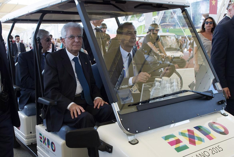 Il presidente della Repubblica Sergio Mattarella all'Expo