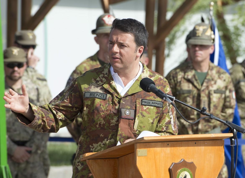 Renzi in visita a Herat, Afghanistan