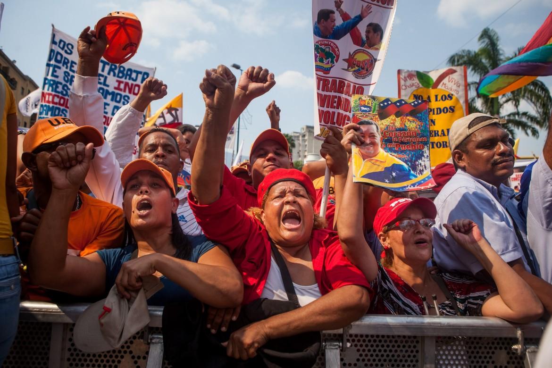 Caracas, manifestazione chavista