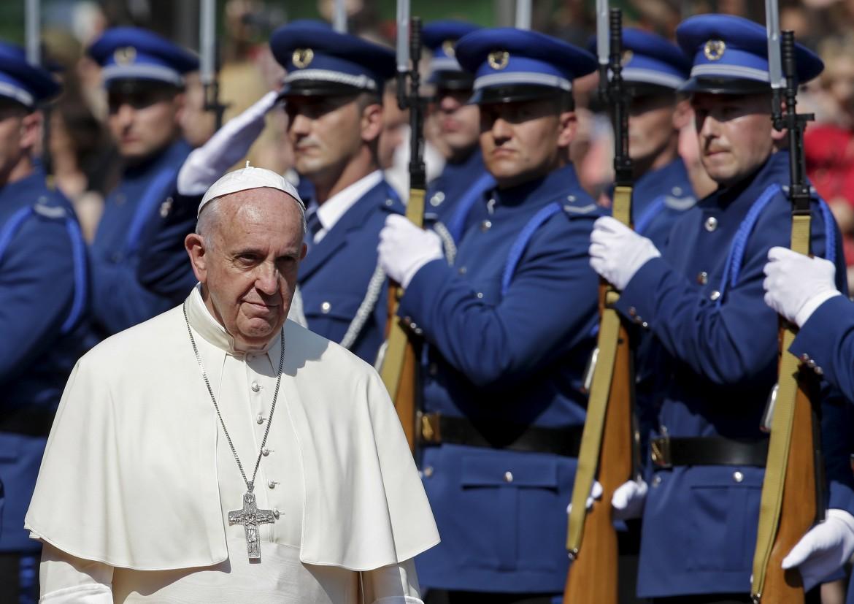 Bergoglio ieri a Sarajevo