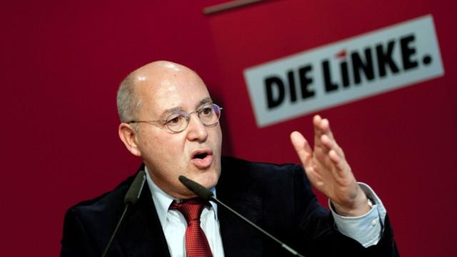 Gregor Gysi, leader storico della sinistra tedesca unita sotto l'insegna della Linke