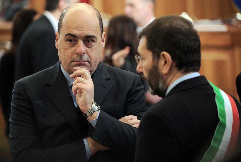 Il governatore del Lazio, Nicola Zingaretti, e il sindaco di Roma, Ignazio Marino