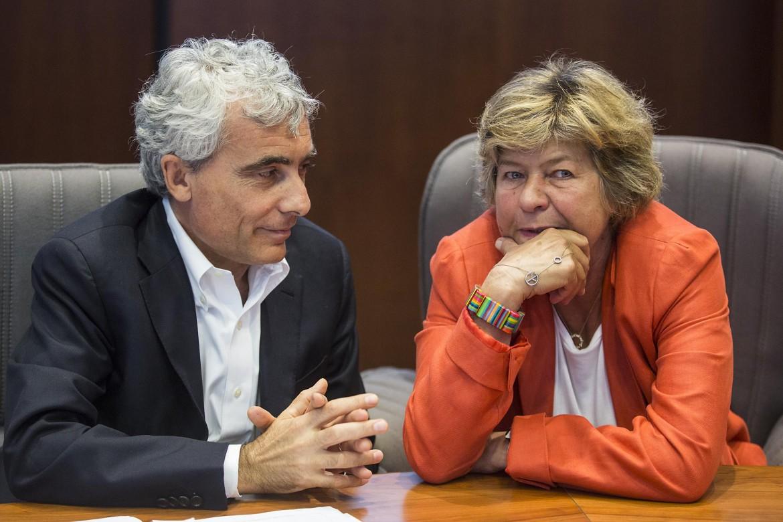 Il presidente dell'Insp Tito Boeri e il segretario generale della Cgil Susanna Camusso al convegno di ieri