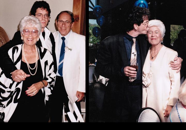 Lou Reed con i genitori