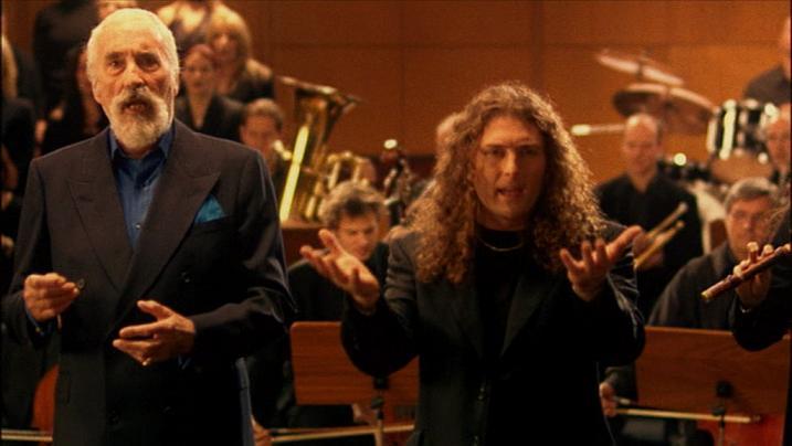 Christopher Lee con i Rhapsody of Fire