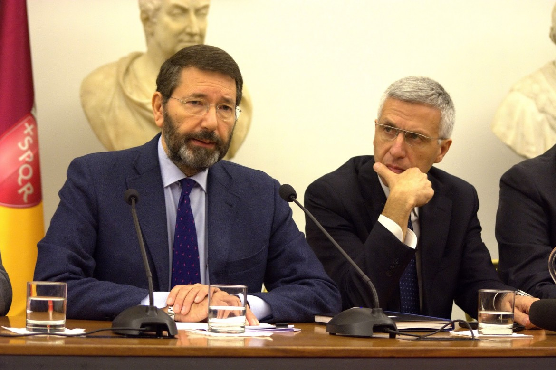 Il sindaco di Roma, Ignazio Marino, e il vice Luigi Nieri