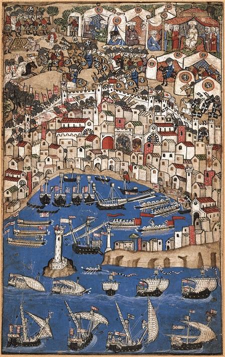 gnoto miniatore del secolo XIV, «Assedio di città»