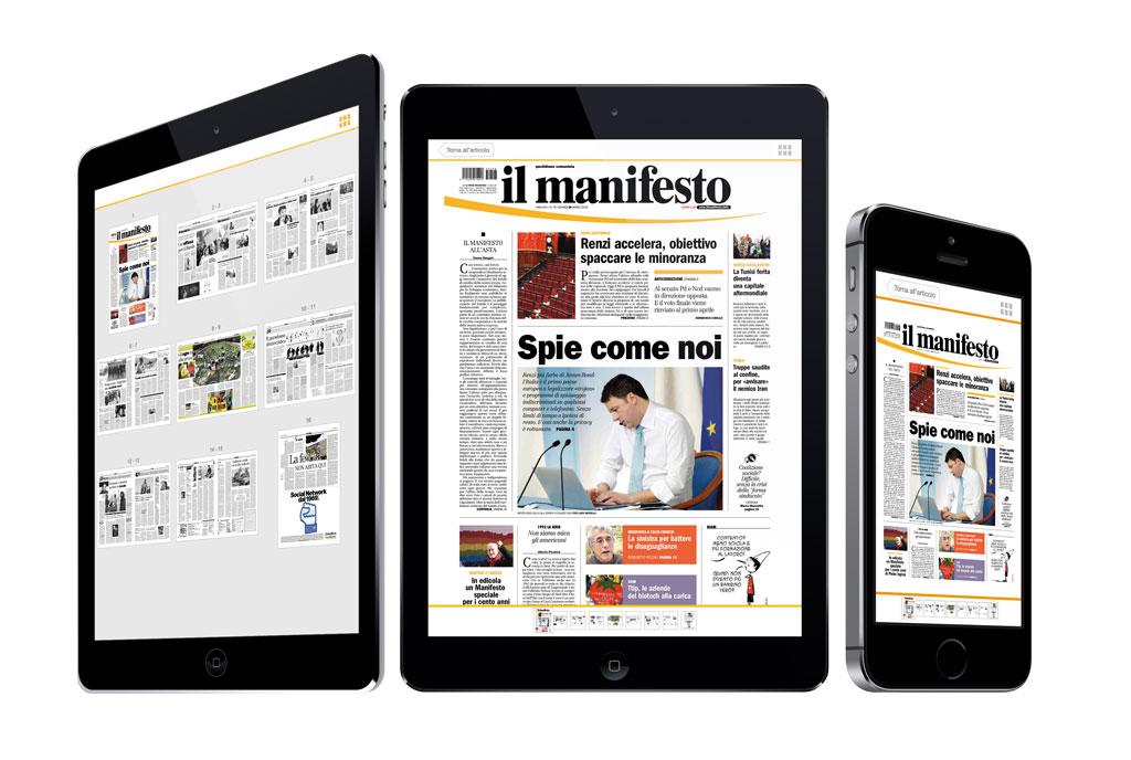 L'edizione replica pdf accompagna l'edizione nativa su il manifesto digitale