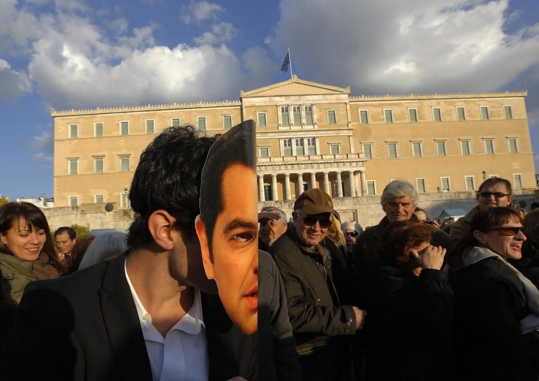Atene in piazza davanti al parlamento