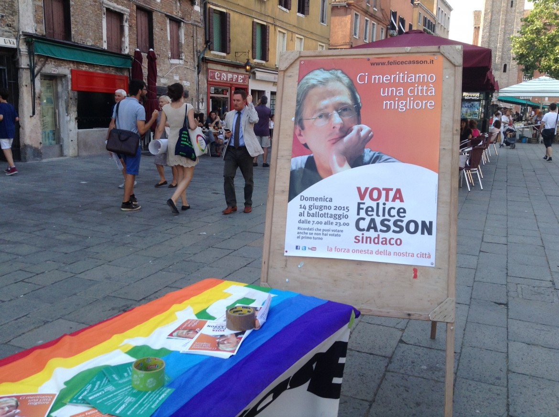Manifesto  per la campagna elettorale di Felice Casson