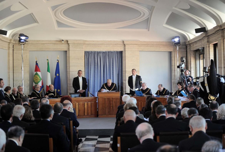 Un'udienza della Corte costituzionale