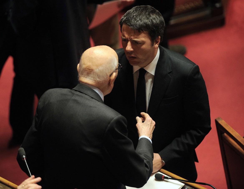 Renzi e Napolitano in senato