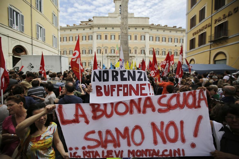Manifestazione sulla scuola