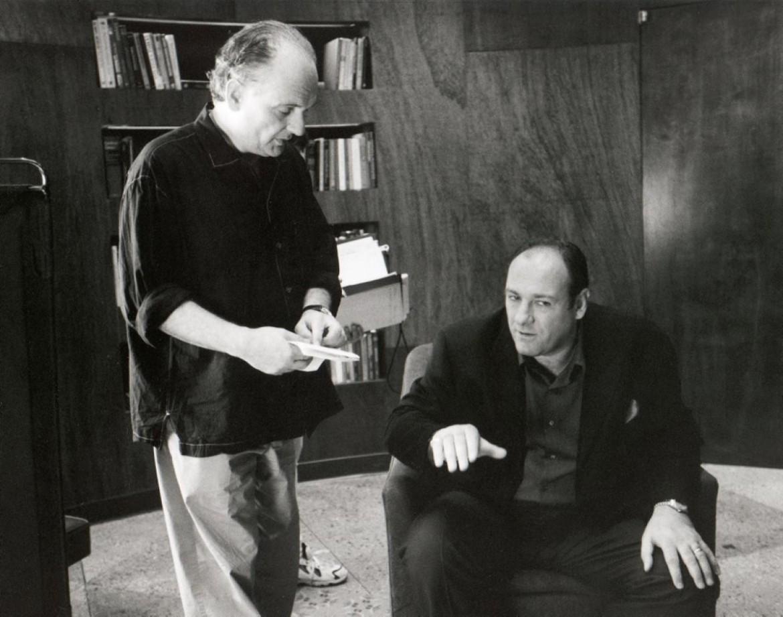 David Chase insieme a James Gandolfini