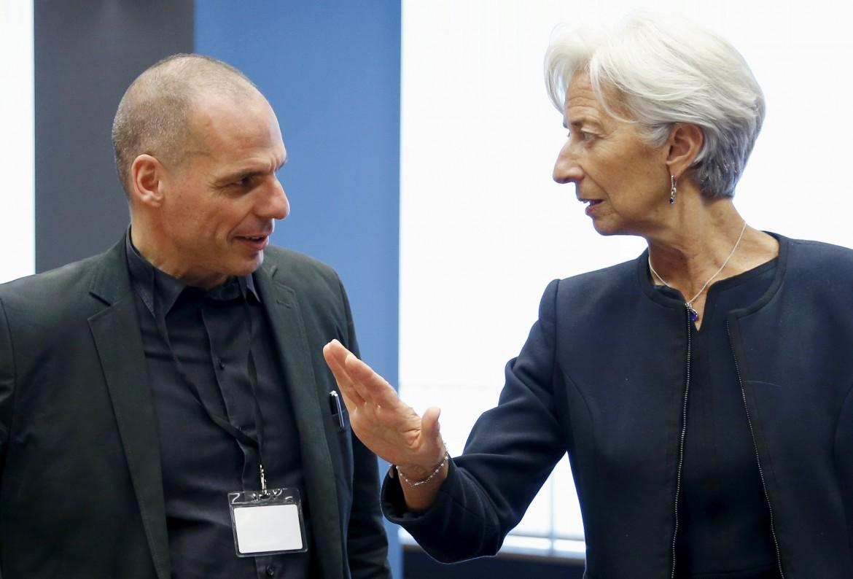 Varoufakis e Lagarde lunedì scorso a Bruxelles