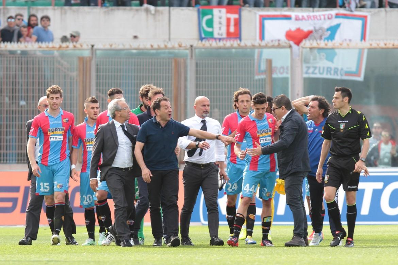 La rabbia di Pulvirenti dopo Catania-Livorno, 2 maggio 2015
