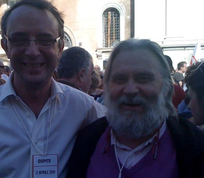 Roberto e Massimo, contro la guerra, Roma, aprile 2011