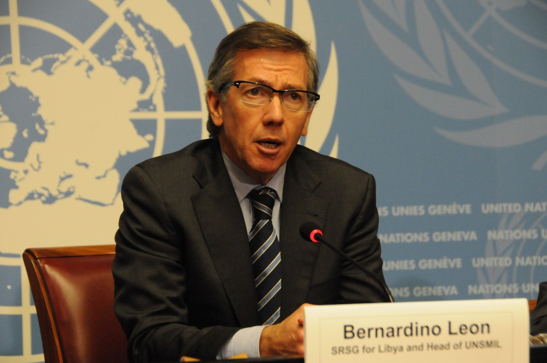 L'inviato delle Nazioni Unite per la Libia, Bernardino Leon