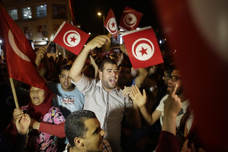 Manifestazione di solidarietà in Tunisia