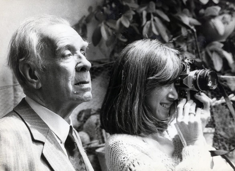 Jorge Luis Borges con María Kodama