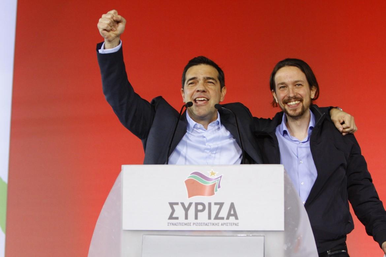 Tsipras e Iglesias ad Atene nel luglio scorso