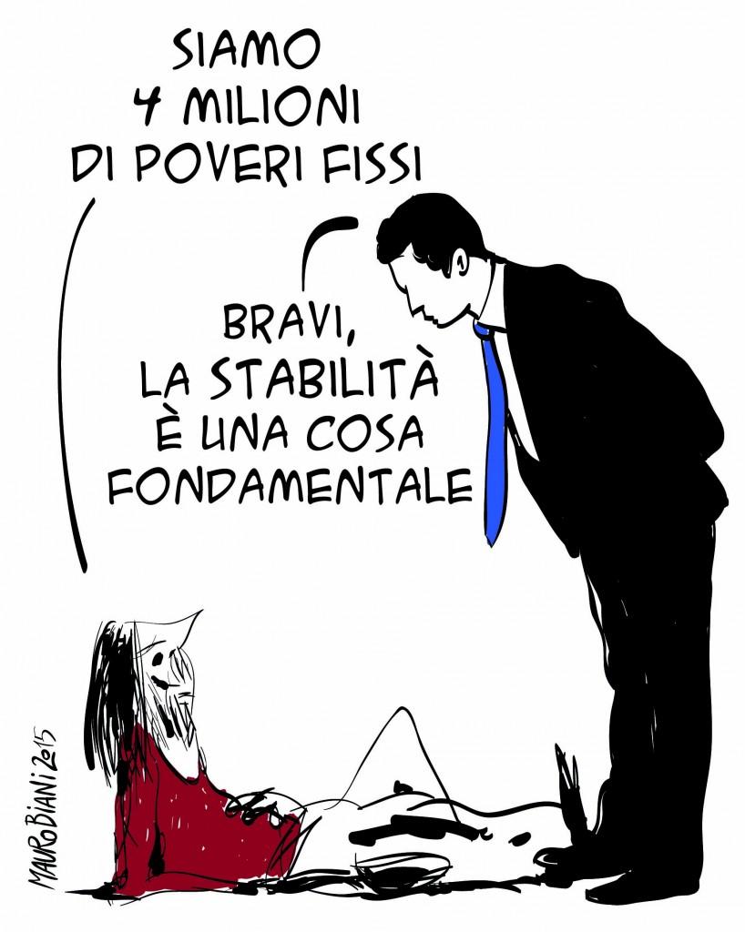 poverta assoluta italia povero