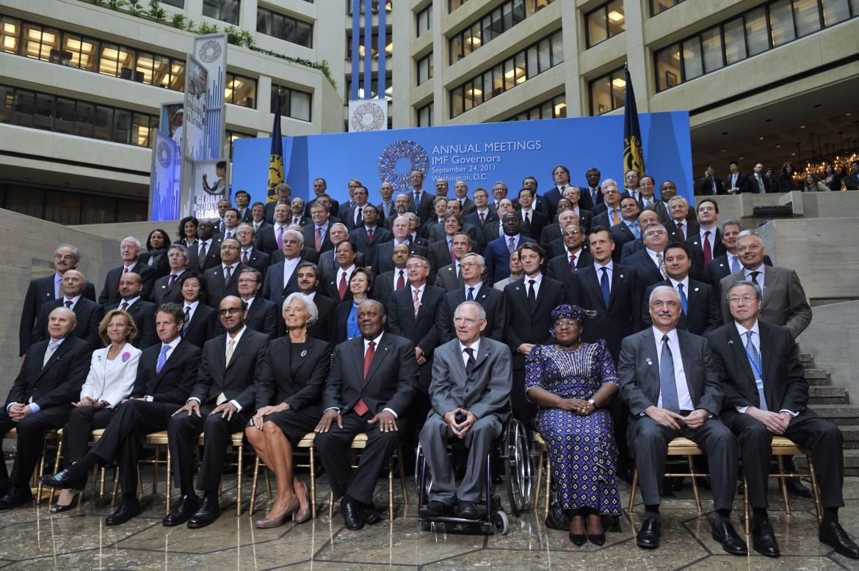 Foto di gruppo per il Fondo monetario internazionale