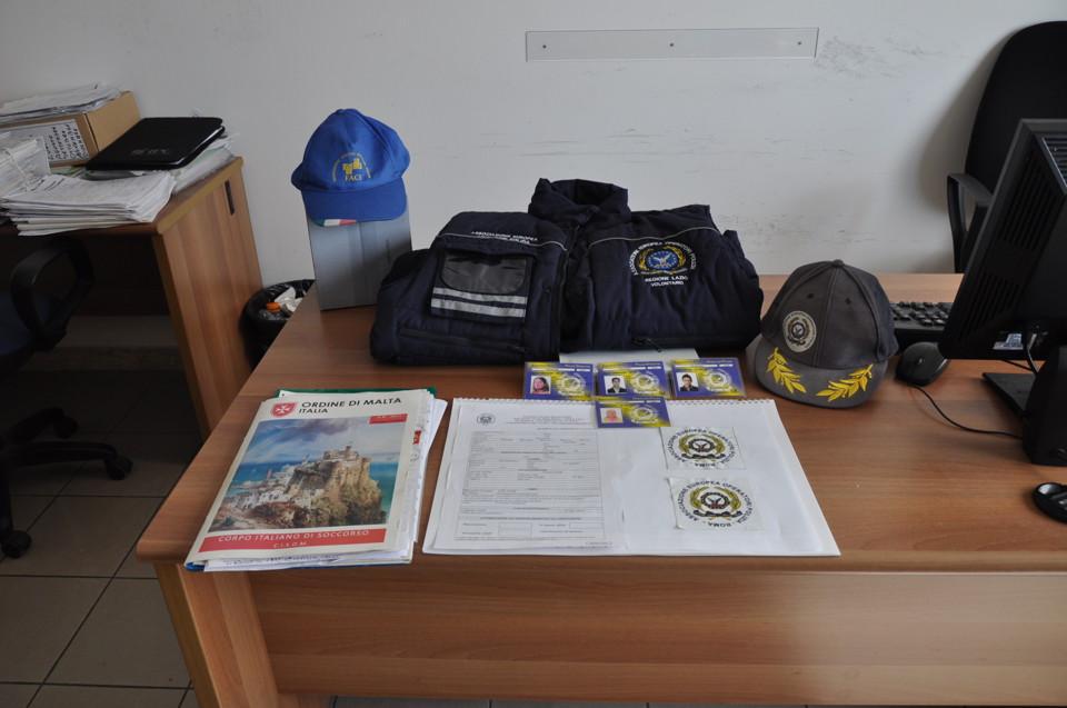 Materiale sequestrato nella sede di Formia dell'Associazione nazionale operatori di polizia