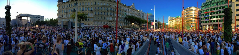 Manifestazione antirazzista a Vienna