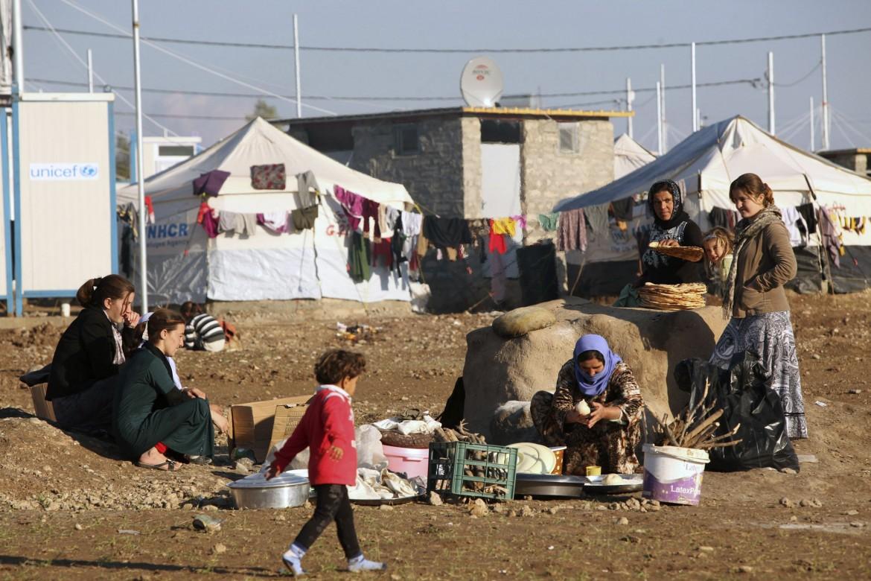 Campo profughi yazidi