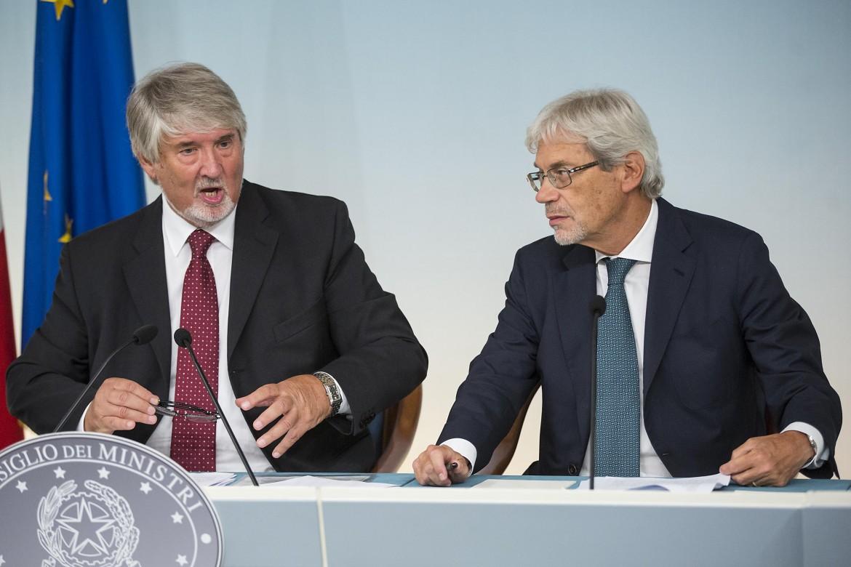Claudio De Vincenti con Giuliano Poletti
