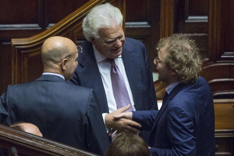 Luca Lotti e Denis Verdini in Parlamento