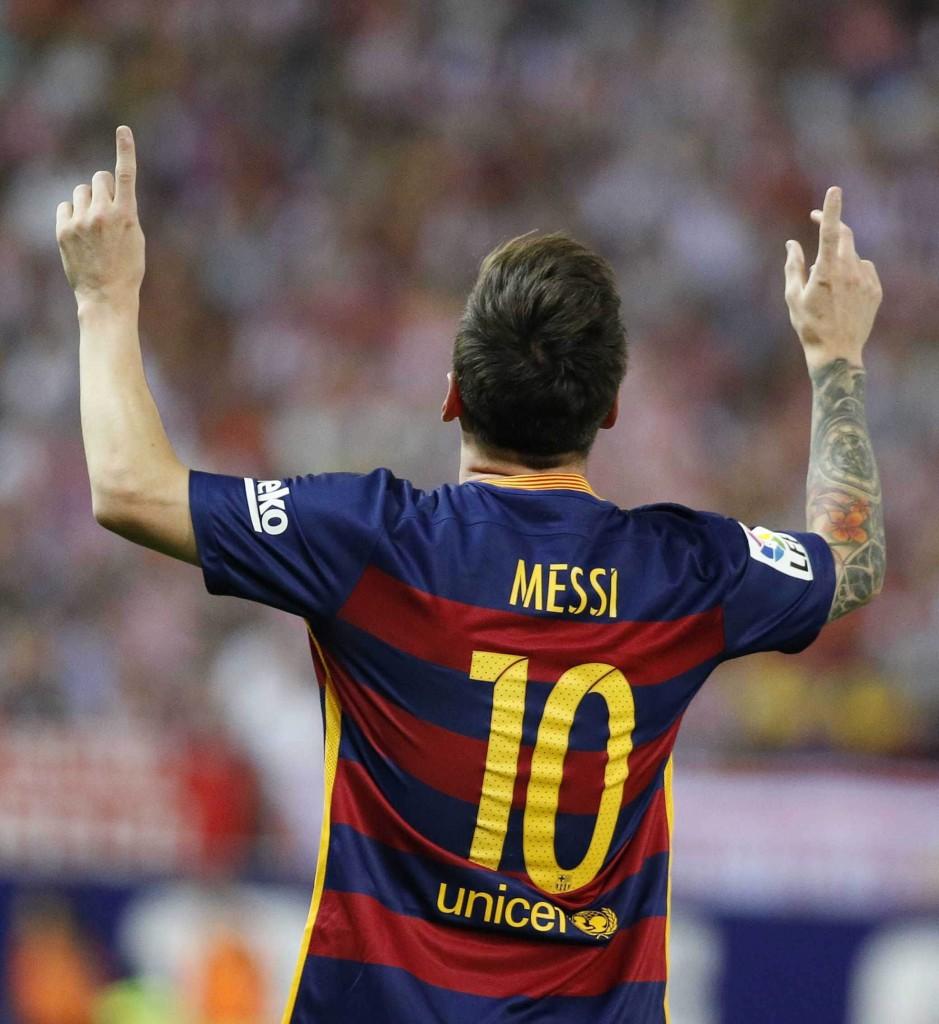 Lionel Messi, stella del Barcellona, che in caso di indipendenza sarebbe fuori dalla Liga