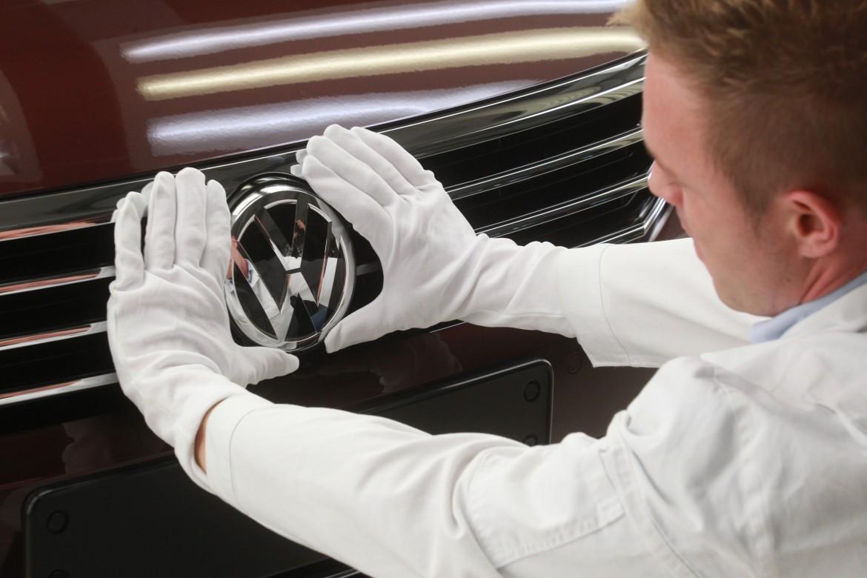 La costruzione di una vettura Volkswagen