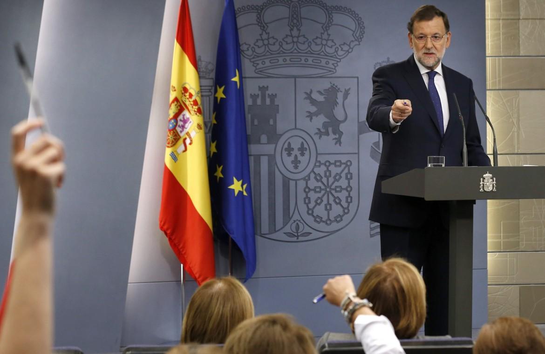 Mariano Rajoy in una conferenza stampa