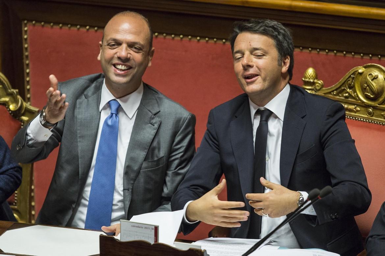 Alfano e Renzi quando il segretario del Pd era il presidente del consiglio