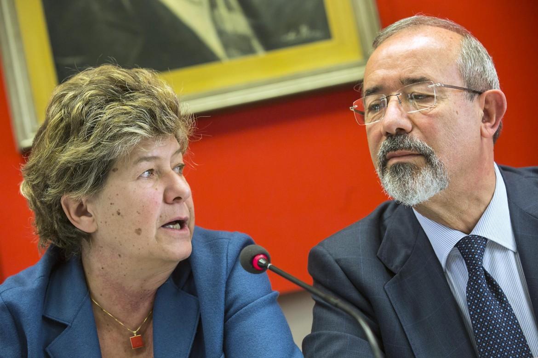 La segretaria Cgil Susanna Camusso e il segretario Uil Carmelo Barbagallo