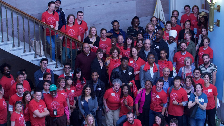 New York 21 settembre, 100 attivisti freelance ricevuti da Eric Adams, presidente del City Council di Brooklin