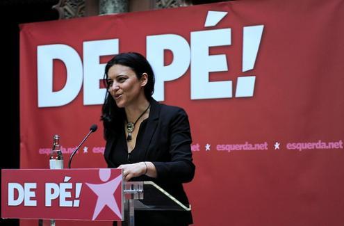 Marisa Matias, 39 anni, eurodeputata del Bloco de esquerda