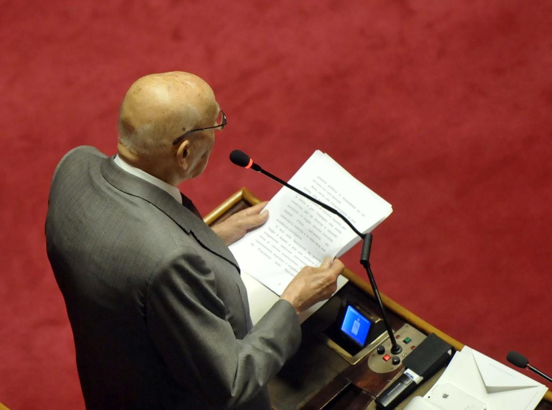Giorgio Napolitano interviene in senato