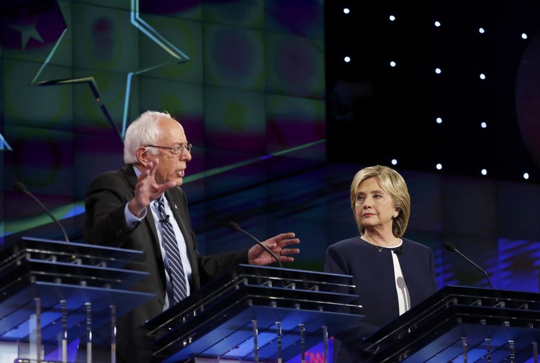 Il primo dibattito tv tra i democratici Sanders e Clinton sulla Cnn