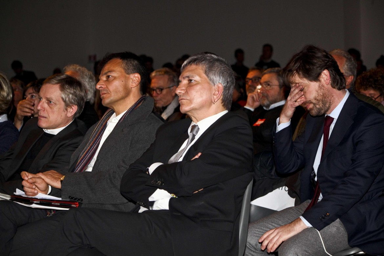 Gianni Cuperlo con Stefano Fassina, Nichi Vendola e Pippo Civati