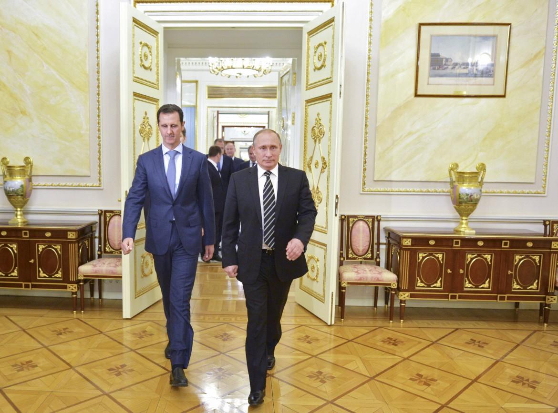 Il presidente siriano Assad al Cremlino con Putin