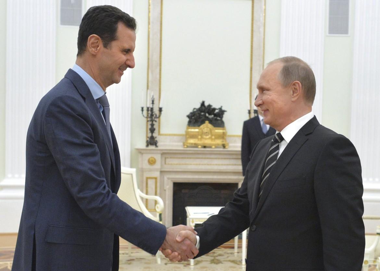 Il presidente siriano Assad e il russo Putin