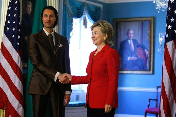 Washington, 21 aprile 2009: Hillary Clinton riceve Mutassim Gheddafi a Washington