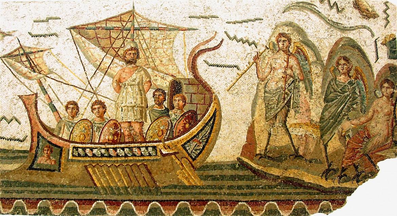 Ulisse e le sirene, III sec. d.C.