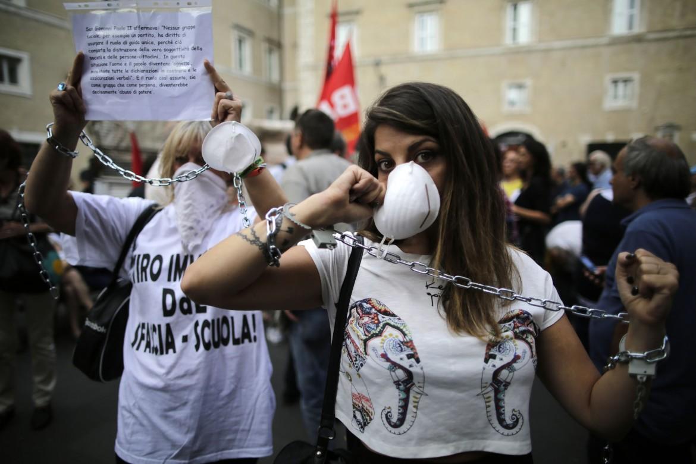 Roma, 2015: la protesta dei docenti contro la