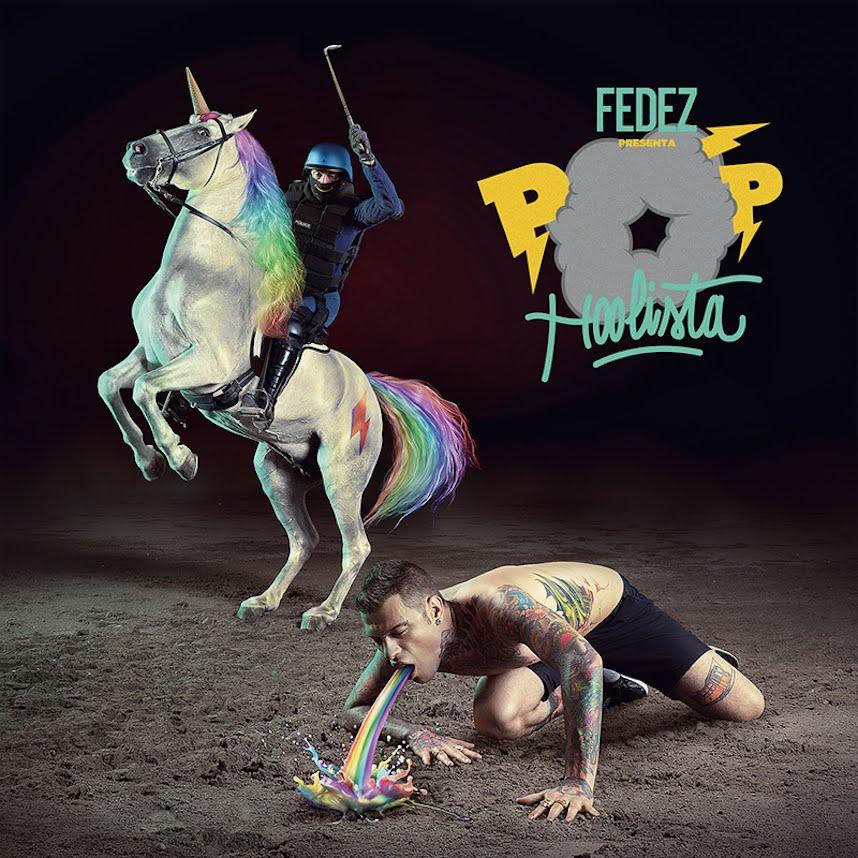 La copertina dell'album di Fedez Pop-Hoolista