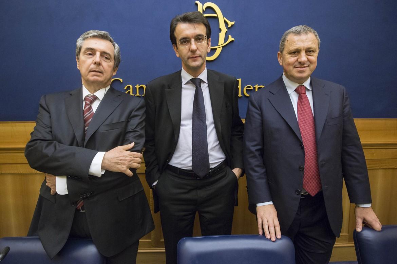 Carlo Galli, Alfredo D'Attorre e Vincenzo Folino, i tre deputati che hanno lasciato il Pd